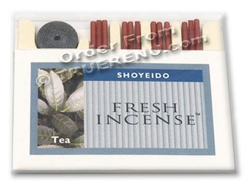 PHOTO TO COME: Shoyeido Fresh Pressed Incense - Tea Scent - 12 sticks