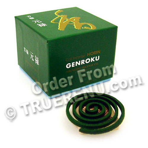 PHOTO TO COME: Shoyeido Horin Incense Coils Genroku Returning Spirit - 10 long-lasting coils