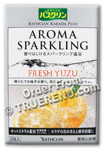 Photo of Karada Plus Aroma Sparkling Fresh Yuzu Bath Salts from Bathclin - Five 30g Packets