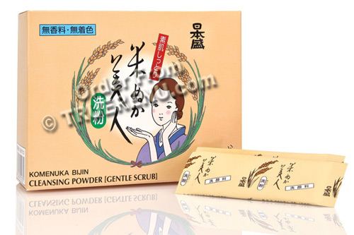 PHOTO TO COME: Komenuka Bijin Facial Cleansing Powder from Natural Rice Bran - 30 Packs