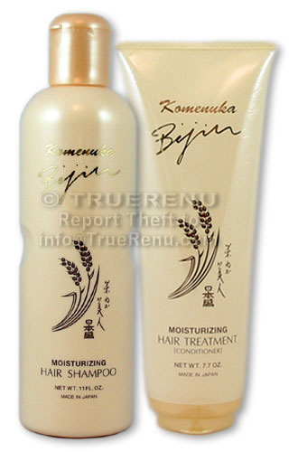 PHOTO TO COME: Komenuka Bijin Premium Hair Care Set: Moisturizing Hair Shampoo & Hair Treatment / Conditioner