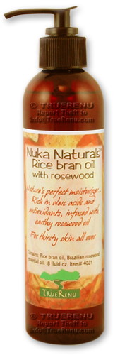 Photo of Nuka Naturals Rice Bran Moisturizing Oil with Rosewood - 8 Fl Oz
