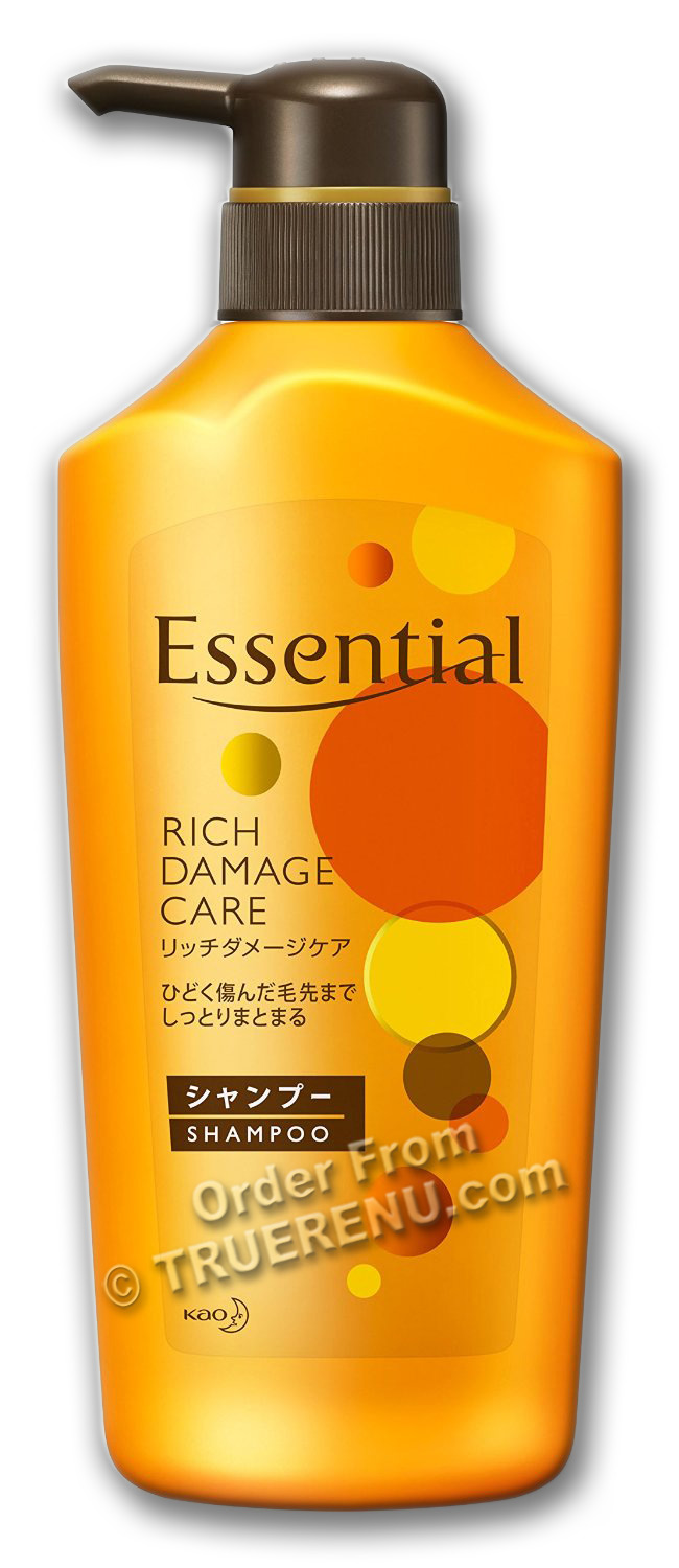 PHOTO TO COME: : KAO Essential - Rich Damage Care Shampoo - 480ml Pump Bottle