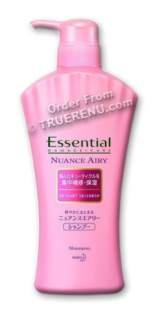 PHOTO TO COME: KAO Essential - Airy Moist Shampoo - 480ml Pump Bottle