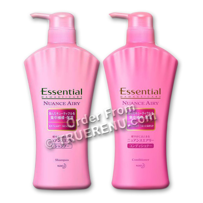 PHOTO TO COME: KAO Essential Damage Care - Nuance Airy Hair Care Set: Shampoo and Conditioner (two 500ml pump bottles)