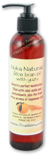 Nuka Naturals Rice Bran Moisturizing Oil with Yuzu Essential Oil - 8 Fl Oz