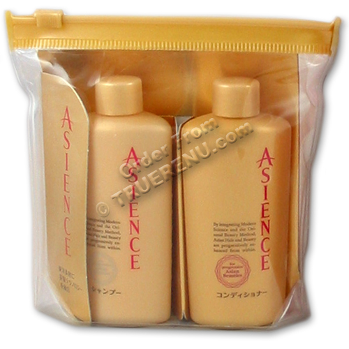 PHOTO TO COME: KAO Asience Inner Rich Travel Set -  Shampoo & Conditioner - two 45ml travel bottles
