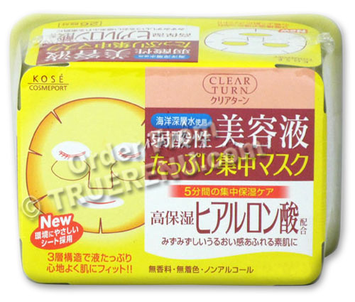 PHOTO TO COME: Kose Clear Turn Essence Facial Mask with Hyaluronic Acid - 30 masks
