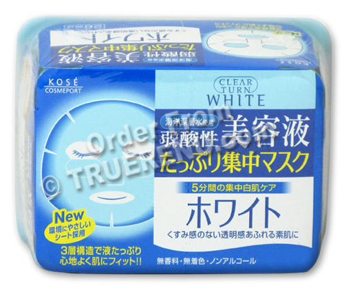 PHOTO TO COME: Kose Clear Turn Essence Facial Mask White - 30 masks