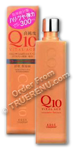 PHOTO TO COME: Vital Age Q10 Facial Lotion (Toner) by Kose Cosmeport - 300ml