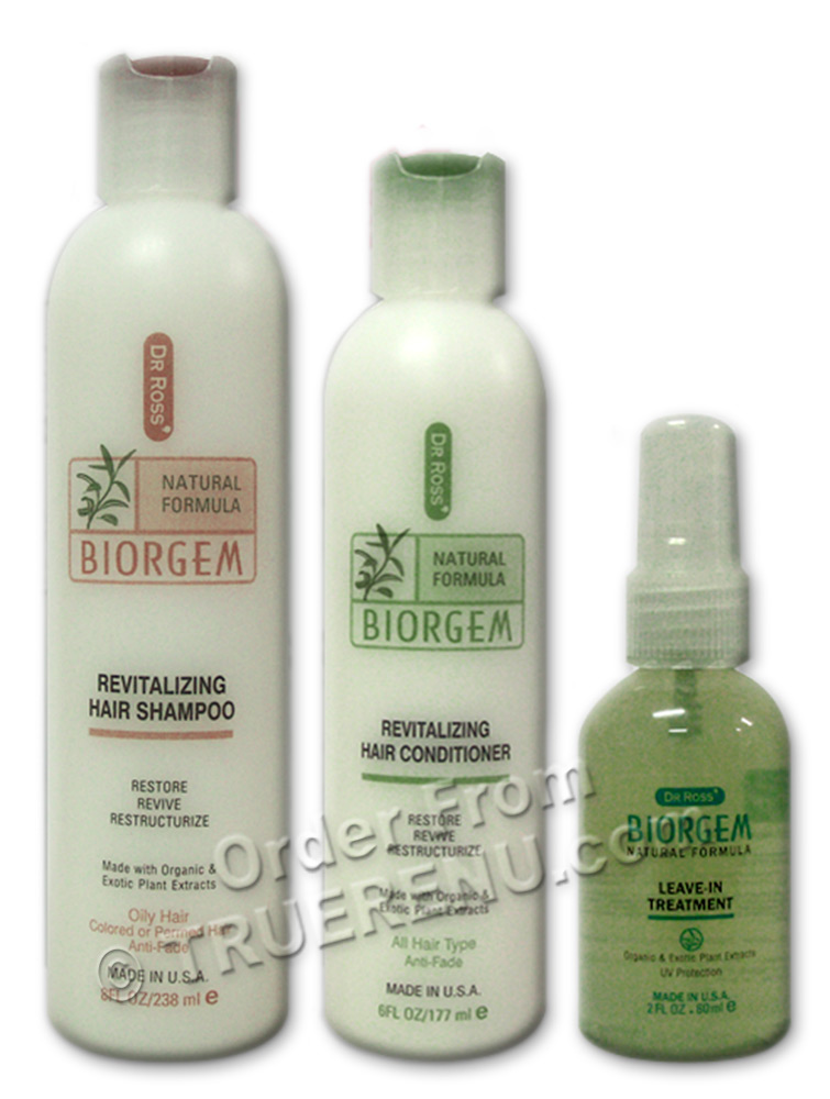 PHOTO TO COME: Dr Ross' BIOGEM Revitalizing Starter Set For Oily Hair - Shampoo 8oz / Conditioner 6oz / Treatment 2oz