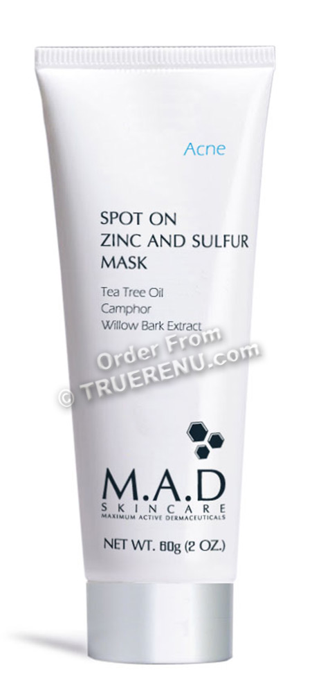 PHOTO TO COME: M.A.D SKINCARE ACNE: Spot On Zinc and Sulfur Mask - 60g