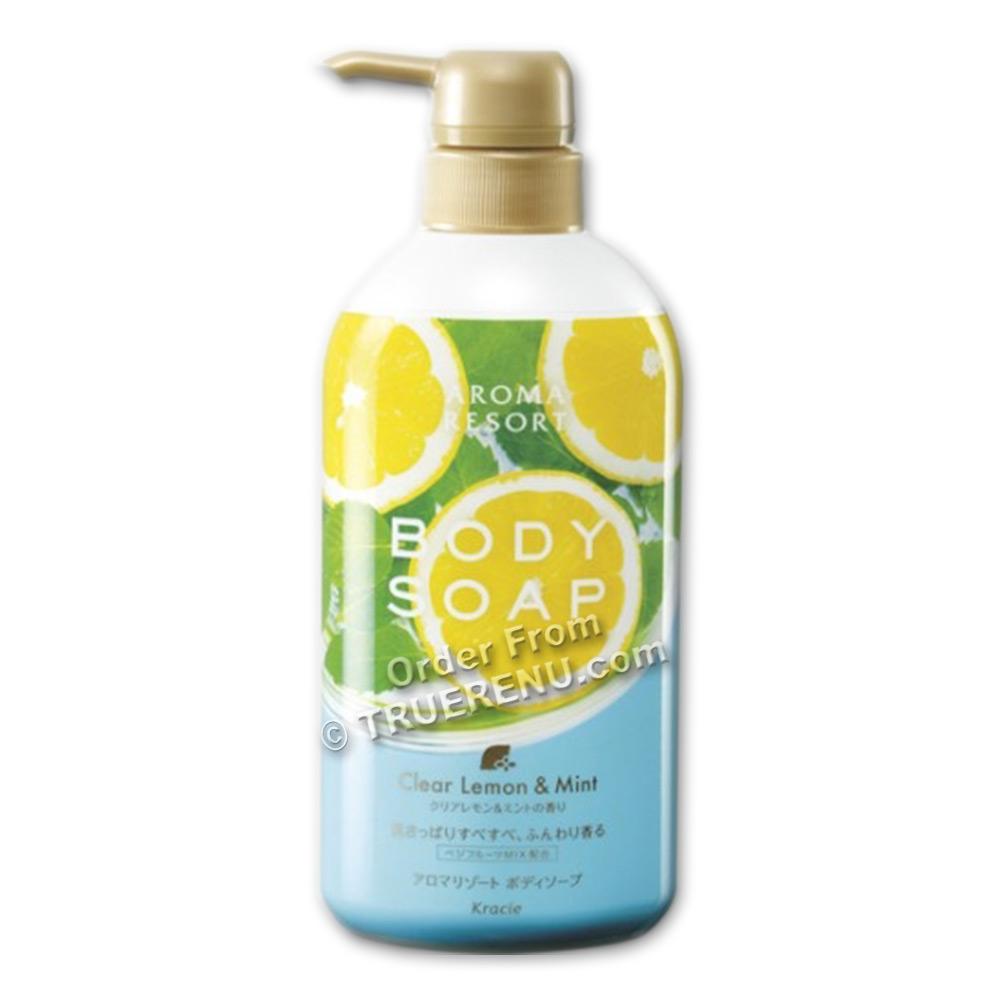 PHOTO TO COME:Aroma Resort Lemon Mint Body Wash by Kracie - 400ml