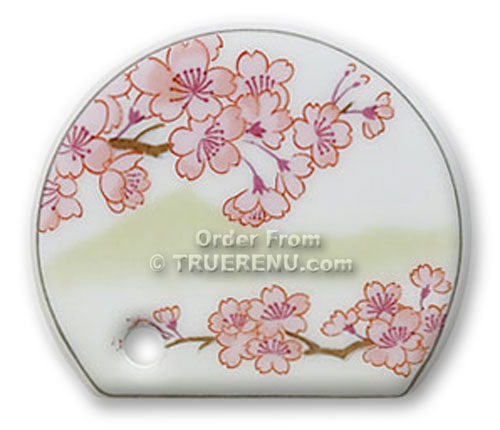 PHOTO TO COME: Shoyeido Porcelain Stick Incense Holder - Cherry Blossom