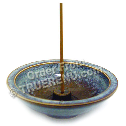 PHOTO TO COME: Shoyeido HandCrafted Ceramic Round Incense Burner/Holder - Mountain Mist