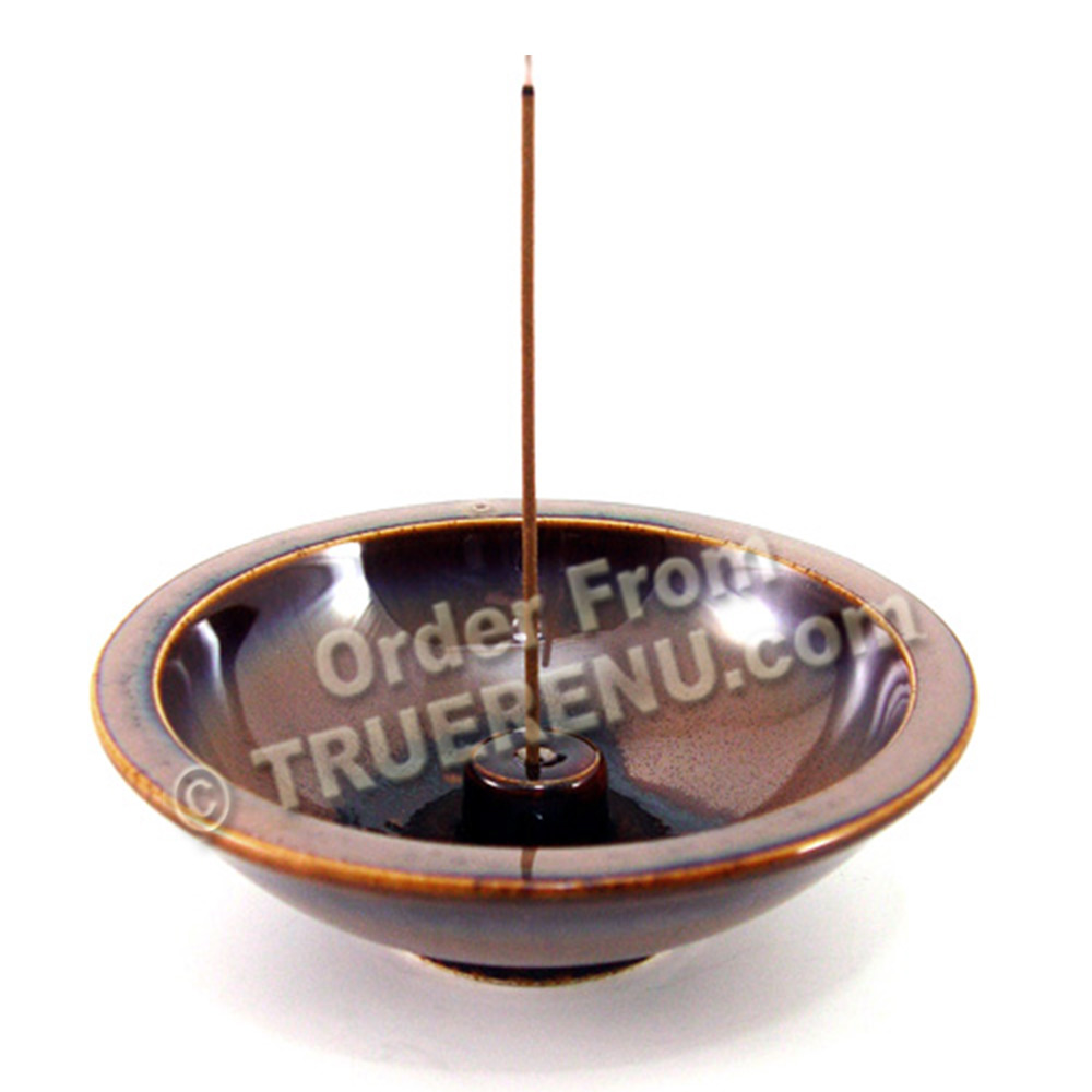 PHOTO TO COME: Shoyeido HandCrafted Ceramic Round Incense Burner/Holder - Terra