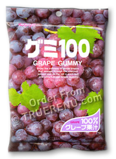 PHOTO TO COME: Japanese Fruit Gummy Candy from Kasugai - Grape - 107g