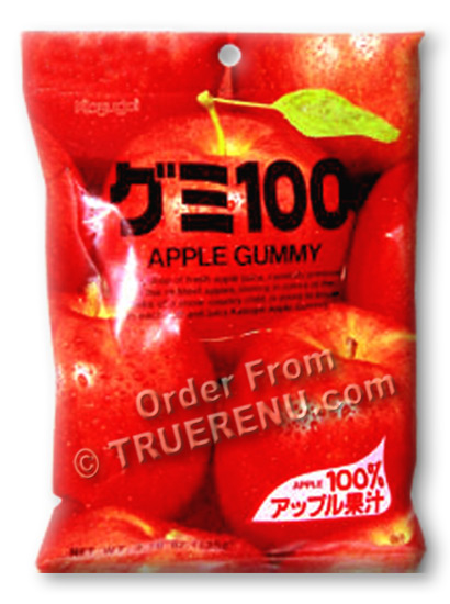 PHOTO TO COME: Japanese Fruit Gummy Candy from Kasugai - Apple - 107g