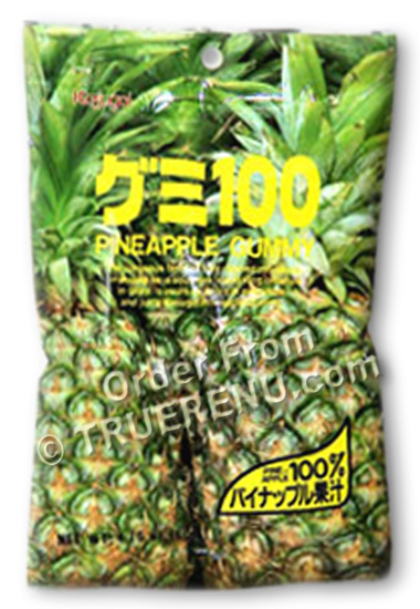 PHOTO TO COME: Japanese Fruit Gummy Candy from Kasugai - Pineapple - 107g