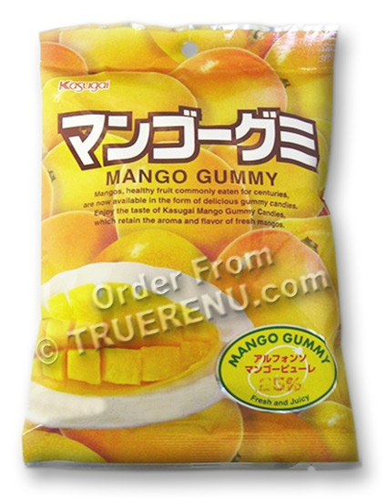 PHOTO TO COME: Japanese Fruit Gummy Candy from Kasugai - Mango - 102g