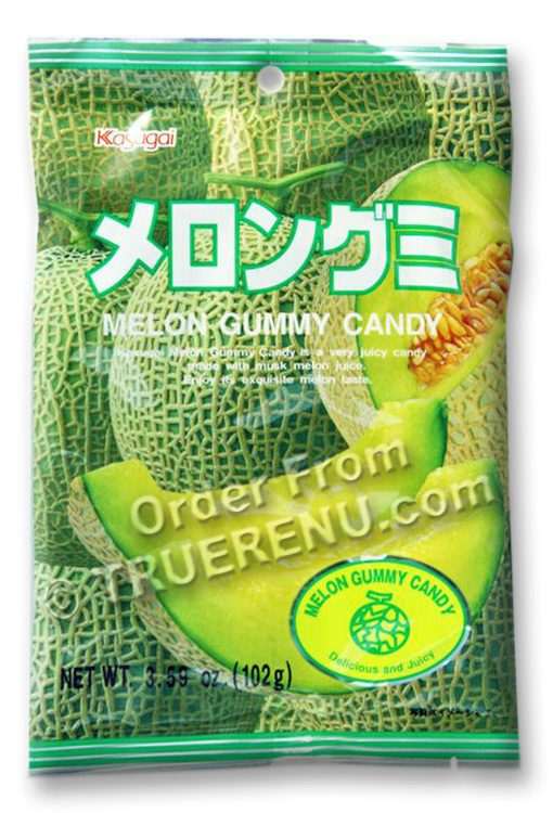 PHOTO TO COME: Japanese Fruit Gummy Candy from Kasugai - Melon - 102g